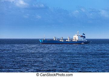 bateau, dans, calme, océan