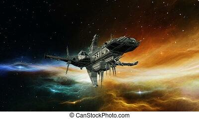 bateau, espace