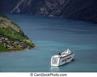 bateau, fjord, croisière luxe