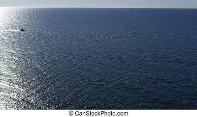 bateau, france, riviera, aérien, cote, vue, moteur, dazur, francais, horizon, coucher soleil