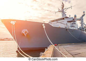 bateau, harbor., indulgence, naval, auxiliary