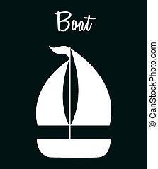 bateau, icône