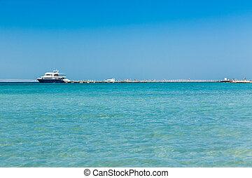 bateau, jetée, mer