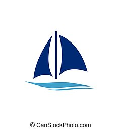 bateau, logo, logo, croisière, ou, bateau