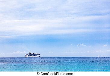 bateau, luxe, mer, croisière