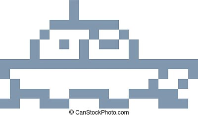 bateau, morceau, 8, icône, jeu, art, pixel, bateau, vidéo