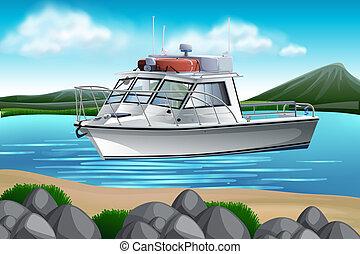 bateau, nature