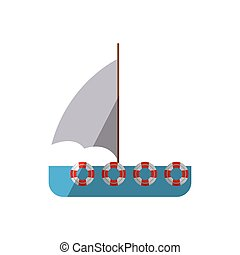 bateau, nautisme, ombre, maritime, voyage