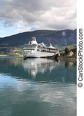 bateau, norvège, croisière