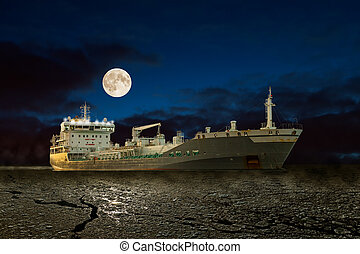 bateau, nuit