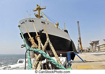 bateau, paranagua, grain, port