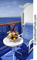 bateau, patio, croisière