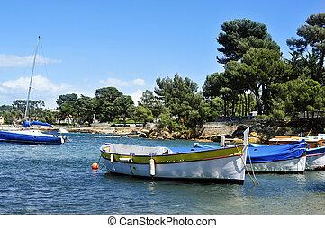 bateau, peche, riviera, france française