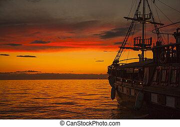 bateau, pirate