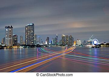bateau, pistes lumière