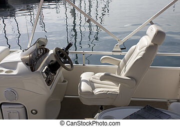 bateau, poste pilotage