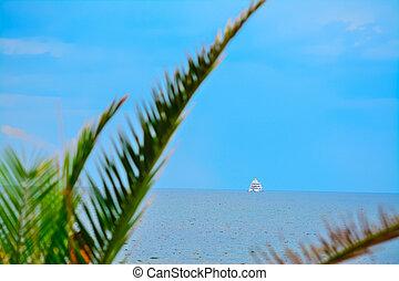 bateau, rivage, alghero, croisière