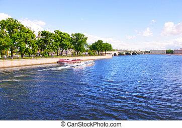 bateau, rivière
