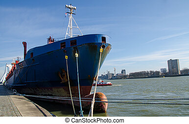 bateau, rotterdam, port