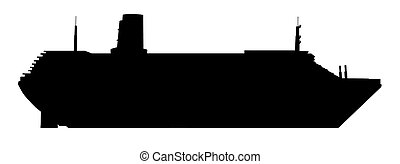 bateau, silhouette, croisière