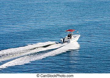 bateau, sur, calme, day2