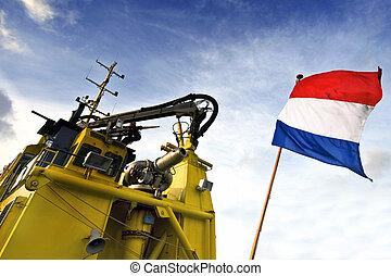 bateau tir, hollandais