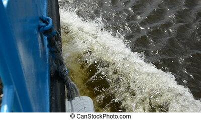 bateau, vagues
