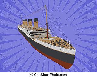 bateau, vecteur