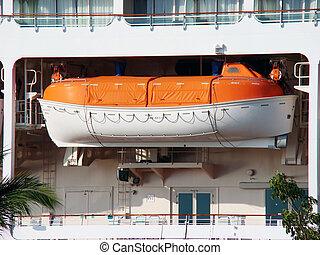 bateau, vie, bateau, croisière
