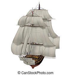 bateau, voile