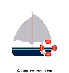 bateau, voyage, maritime, bouée