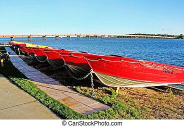 bateaux, bribie, île