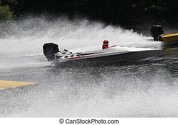 bateaux, courses, vitesse