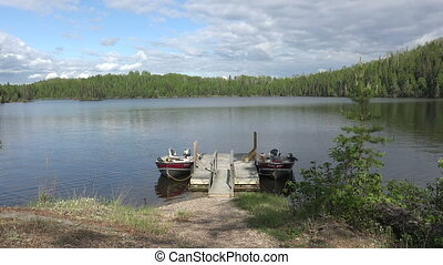 bateaux, dock, (timelapse)