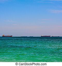 bateaux, horizon