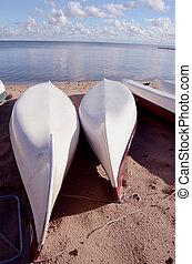 bateaux, plage sable