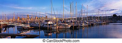 bateaux, plaisir, yachts