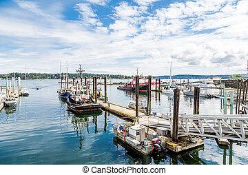 bateaux, port, nanaimo