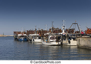 bateaux, port, peche