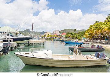 bateaux, port, philipsburg