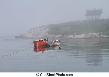 bateaux, rang, anse, peggy's