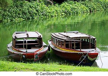 bateaux, rivière