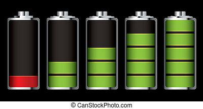 batería, carga, sección