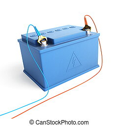 batería, coche