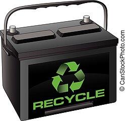 batería, reciclar