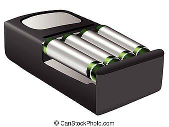 baterías, rechargeable