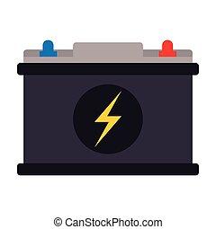 bateria, car, ícone