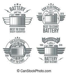 bateria carro, loja, emblemas