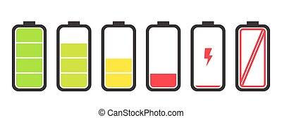 bateria, débito, indicador