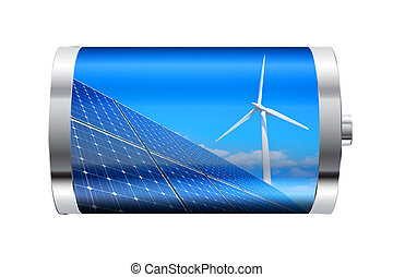 bateria, energia renovável